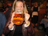 Your on-site Huron Tours' tour manager Katie and a big beer!